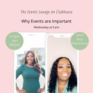 Catch me and my biz bestie tonight at 9 pm CST as we talk events. Krystal is a genius at this game and I'm glad to team up and share with you all why it's important to still host events. See ya tonight.