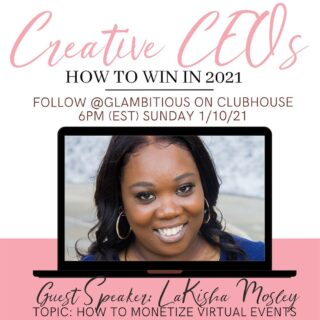 Join me and some amazing speakers in Clubhouse tonight with @glambitiousiam at 5 pm CST.
