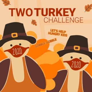 Are 🦃 🦃 two turkeys better than one? They are when you take the #twoturkeychallenge to #endhunger! I'm accepting the @feedthechildrenorg challenge and spreading the word because I believe ALL children deserve to live in a world without hunger. Are you in? Find out more at www.feedthechildren.org/twoturkeychallenge