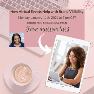 Want to learn how virtual events can help grow your brand? Join my free masterclass tonight at 7 PM CST for some great tips on how you can grow your brand. Register here: bit.ly/vebrands or the link in my bio ⁣ .⁣ .⁣ .⁣ .⁣ .⁣ #virtualeventplanningwebinar #strategydevelopment #gogetter #virtualeventstrategist #virtualeventplanningtool #virtualeventmanagers #entrepreneurslife #virtualeventplanningservice #buildyourempire #gogetit #businessstrategy #businessgrowth #virtualeventplanningcourse #virtualevents #virtualeventplanningplatform #virtualeventplanningtips