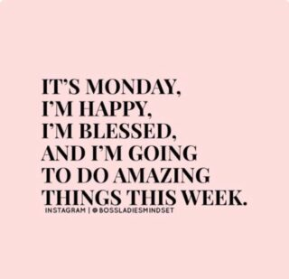 Happy Monday Folks!!! ⁠ ⁠ It's a new week and time to do some amazing things. I get excited about the impact I want to make this week.⁠ ⁠ What are your plans for this week?⁠ #newweek #newbeginnings