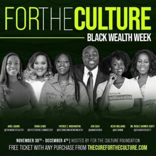 Repost from @koereyelle • NEXT WEEK we're doing it for the culture ✊🏾⁣ ⁣ Nov. 30-Dec. 4th is officially Black Wealth Week and I have the pleasure of plugging you in with my people so you can create a strategy to start building wealth 💰 ⁣ ⁣ Access to all SIX sessions is your FREE GIFT with any purchase from TheCureForTheCulture.com which is the online fundraiser for my nonprofit org @thecurefortheculture 🖤 Our entire mission is to advocate for 𝐀𝐋𝐋 𝐓𝐇𝐈𝐍𝐆𝐒 𝐁𝐋𝐀𝐂𝐊 and provide resources to rebuild the black community.⁣ ⁣ Here's how to attend the digital summit:⁣ 1 - Visit @thecurefortheculture's online shop ⁣ ⁣ 2 - Make a purchase of ANY amount ⁣ ⁣ 3 - Receive your free ticket ⁣ ⁣ Then, join @thestudentloandoctor ⁣ @iamashcash ⁣ @keziamw ⁣ @themoneyrealtor ⁣ @drgarnerscott ⁣ @seekwisdompcw ⁣ For six life-changing and game-changing sessions🥰⁣ ⁣ Can't attend the live sessions? No worries. You'll receive copies of the replays 🖤
