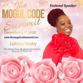 Looking forward to speaking at the Black Mogul Summit this Sunday. For those who still need help with virtual events, I'll be discussing: • how to make virtual events work for your brand • how you can still have conferences and trade shows in the virtual environment • how to engage your audiences during a virtual experience Get your tickets at the www.themogulcodesummit.com